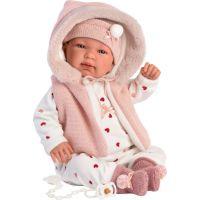 Llorens 84440 New born Realistická panenka Miminko se zvuky a měkkým látkový tělem 44 cm