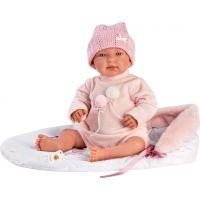 Llorens 84452 New born Realistická bábika Bábätko sa zvuky a mäkkým látkový telom 44 cm