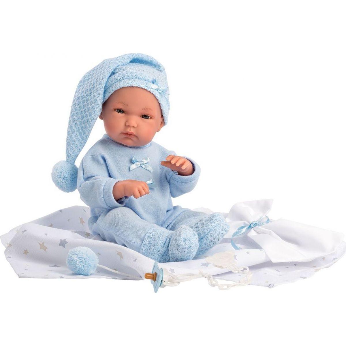 Llorens bábika New Born chlapček v modrej čiapke - Poškodený obal