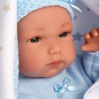 Llorens bábika New Born chlapček v modrej čiapke - Poškodený obal 2