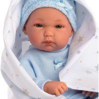 Llorens bábika New Born chlapček v modrej čiapke - Poškodený obal 3