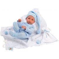Llorens bábika New Born chlapček v modrej čiapke - Poškodený obal 4