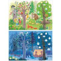 Londji Oboustranné puzzle Den a noc v lese 2 x 50 dílků 2