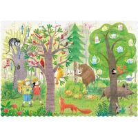 Londji Oboustranné puzzle Den a noc v lese 2 x 50 dílků 3