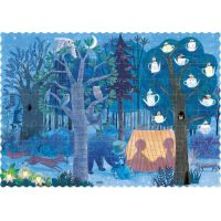 Londji Oboustranné puzzle Den a noc v lese 2 x 50 dílků 4