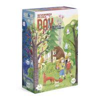 Londji Oboustranné puzzle Den a noc v lese 2 x 54 dílků 2