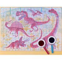 Londji Veľké puzzle Svet dinosaurov 200 dielikov