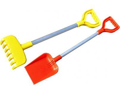 Toy Lopata a hrábě velké s hliníkovou rukojetí