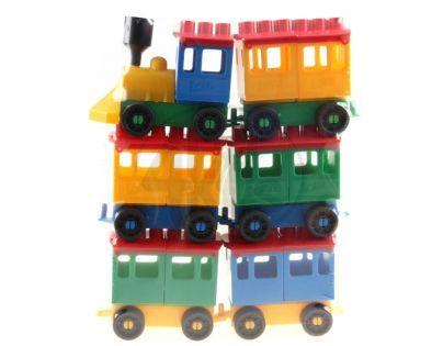 LORI 42000008 - LORI 8 - Lokomotiva + 5 vagónků velké