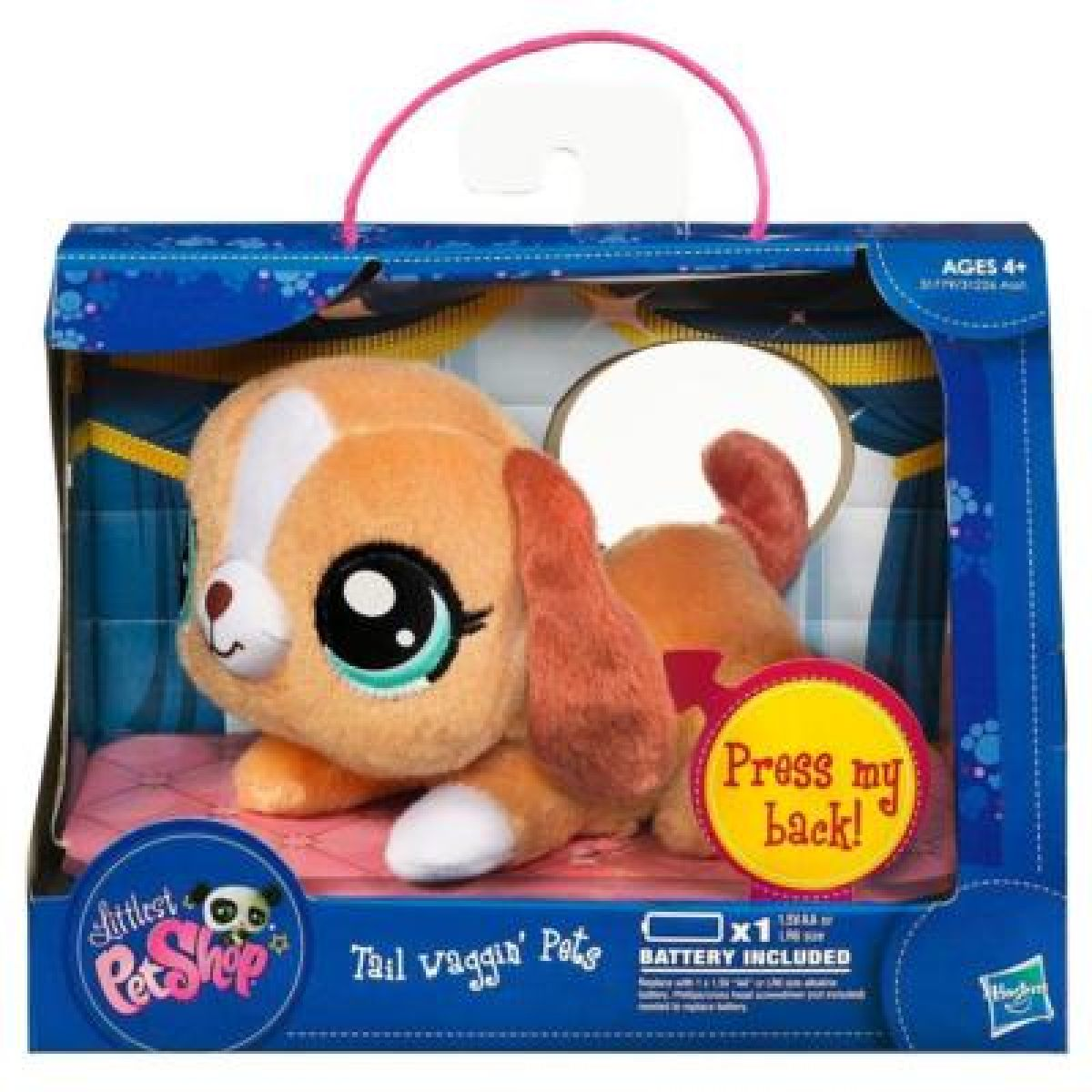 LPS Plyšová zvířátka s pohybujícím se ocáskem Hasbro - Medvěd