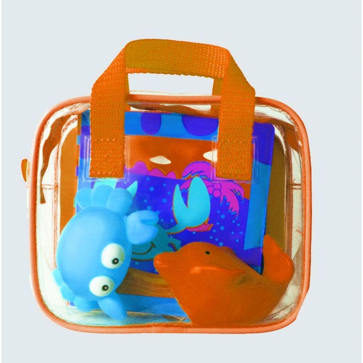 Ludi Hračky a kniha do koupele Oranžová