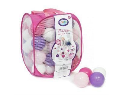 Ludi 2793LU- Míčky růžové / fialové / bílé  75 ks