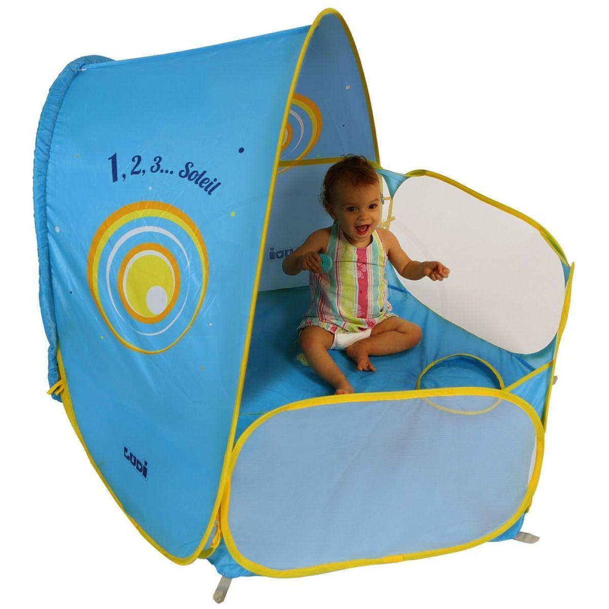 Ludi stan UV a hrací ohrádka pro miminko modrý
