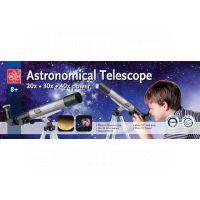 EDU-TOYS M8000023 - Astronomický Teleskop s tripodem30mm 20x 30x 40x 2