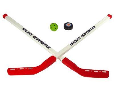 Mac Toys  M60479 - Hokejka s pukem a míčkem