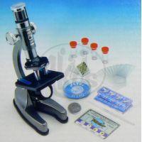 Mac Toys  M8000601 - Kovový mikroskop s lampičkou a projektorem 100x-900x 4