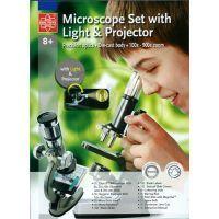 Mac Toys  M8000601 - Kovový mikroskop s lampičkou a projektorem 100x-900x 5