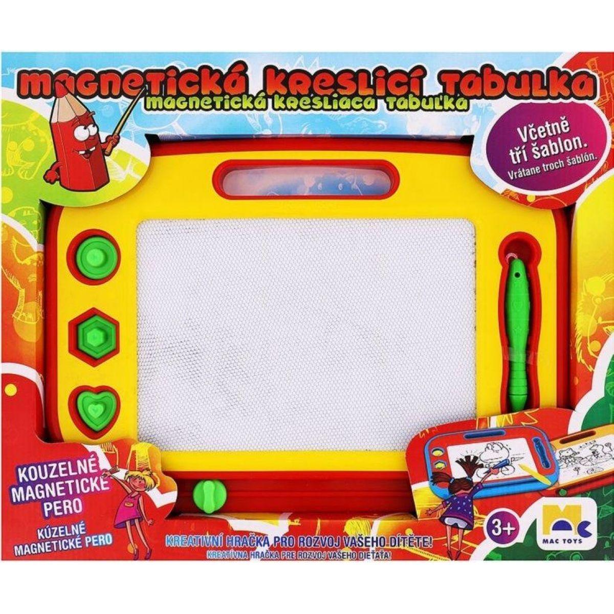 Mac Toys Magnetická kreslící tabulka červeno-žlutá