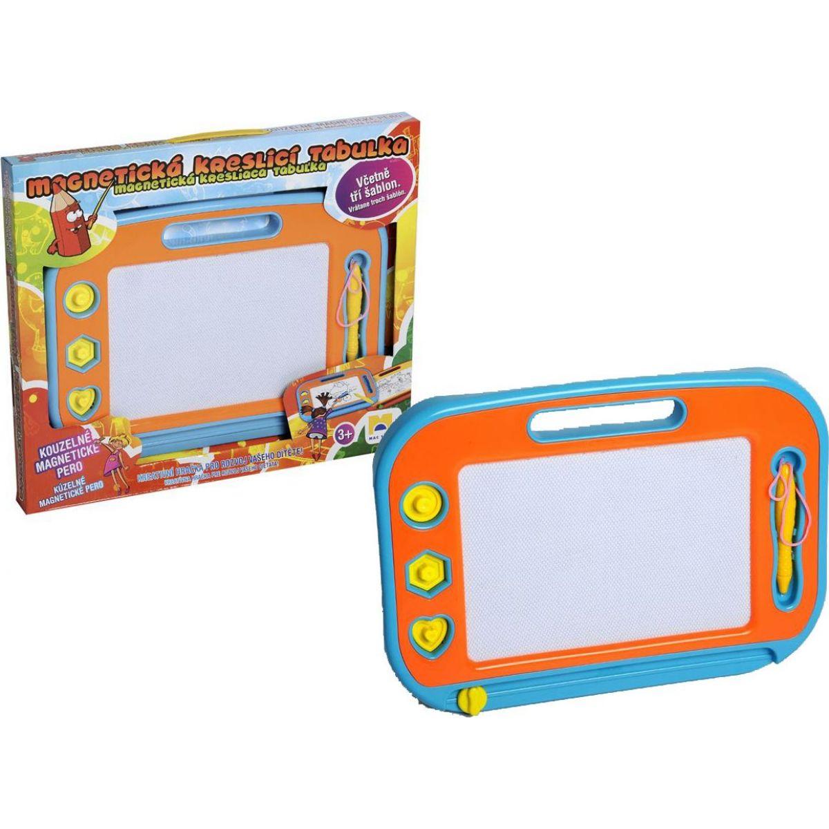 Mac Toys Magnetická kreslící tabulka modro-oranžová