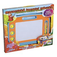 Mac Toys Magnetická kreslící tabulka modro-oranžová 3