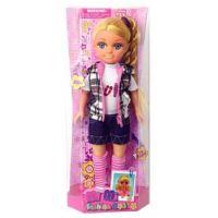 Mac Toys Panenka s módními doplňky Kostkovaná vesta