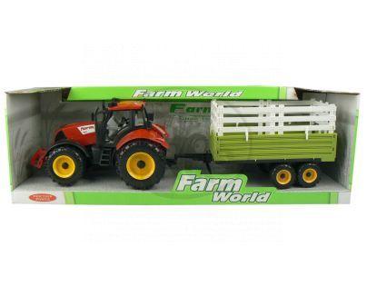 Mac Toys Traktor s valníkem - Červený s nástavbou