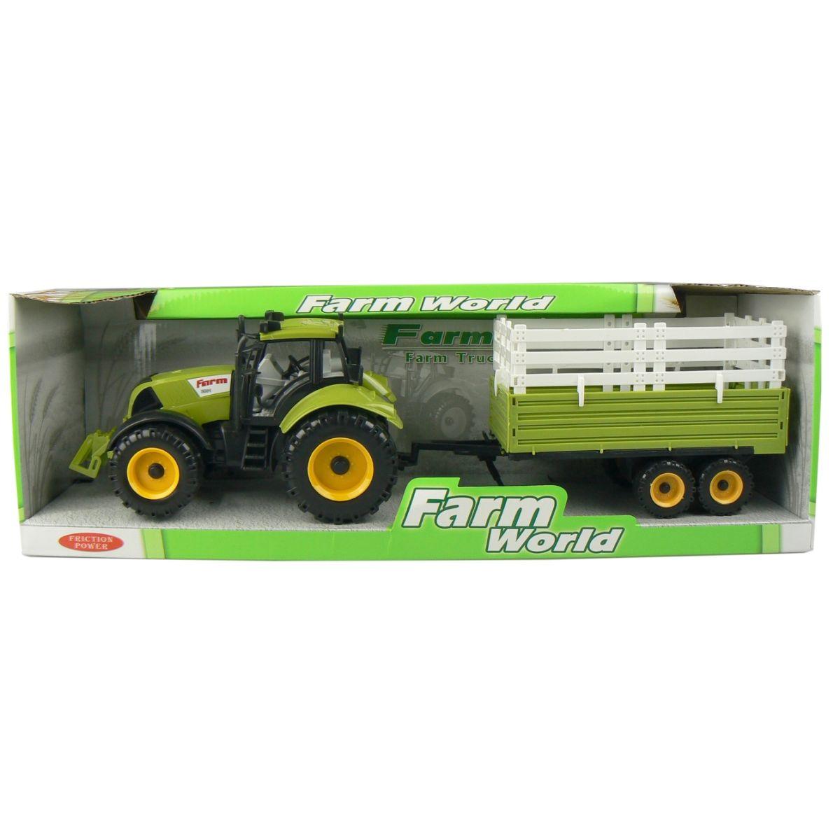 Mac Toys Traktor s valníkem - Zelený s nástavbou