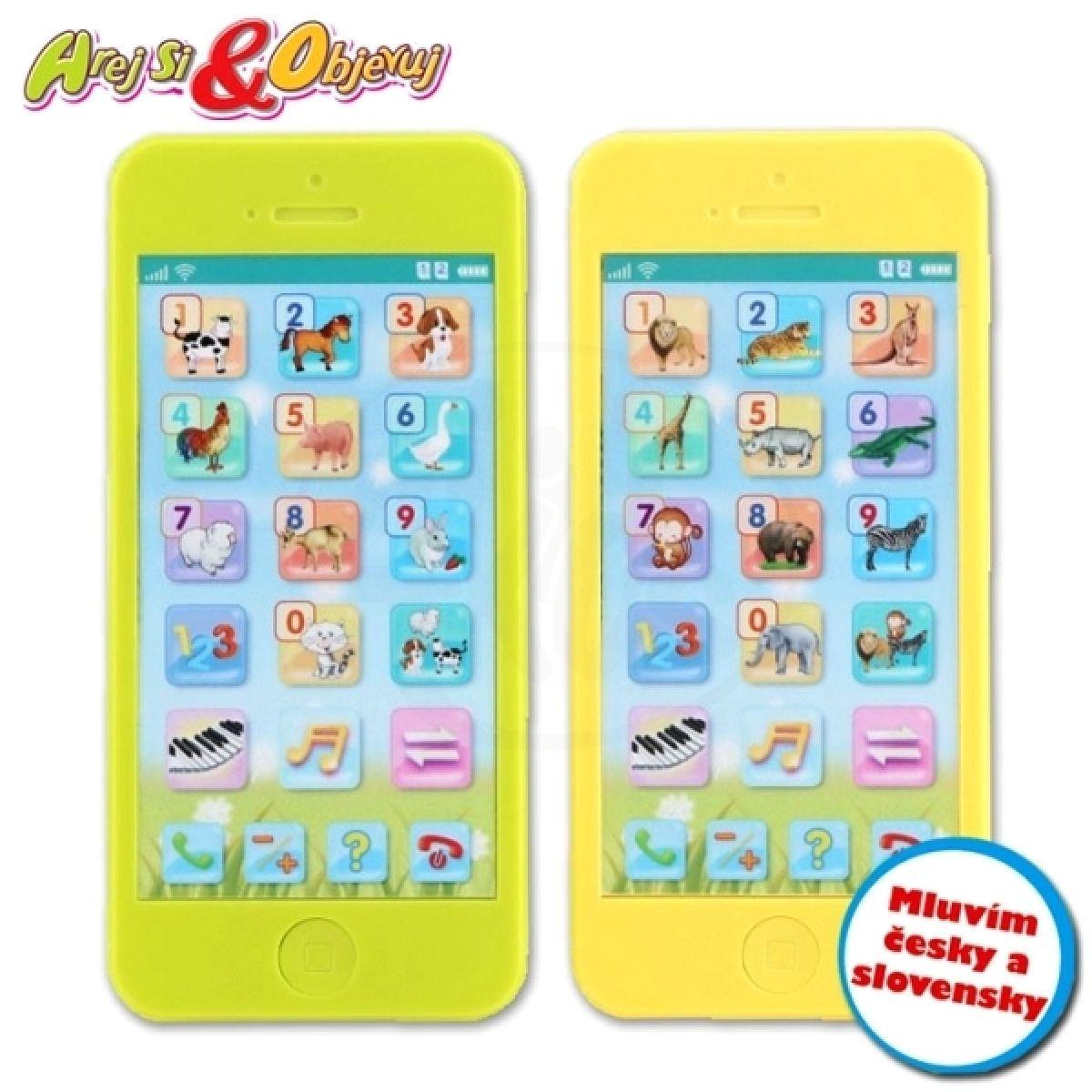 MaDe 78322 - Telefon naučný v boxu - Žlutá