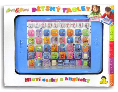 MaDe 70631 - Dětský tablet česko-anglický - růžový