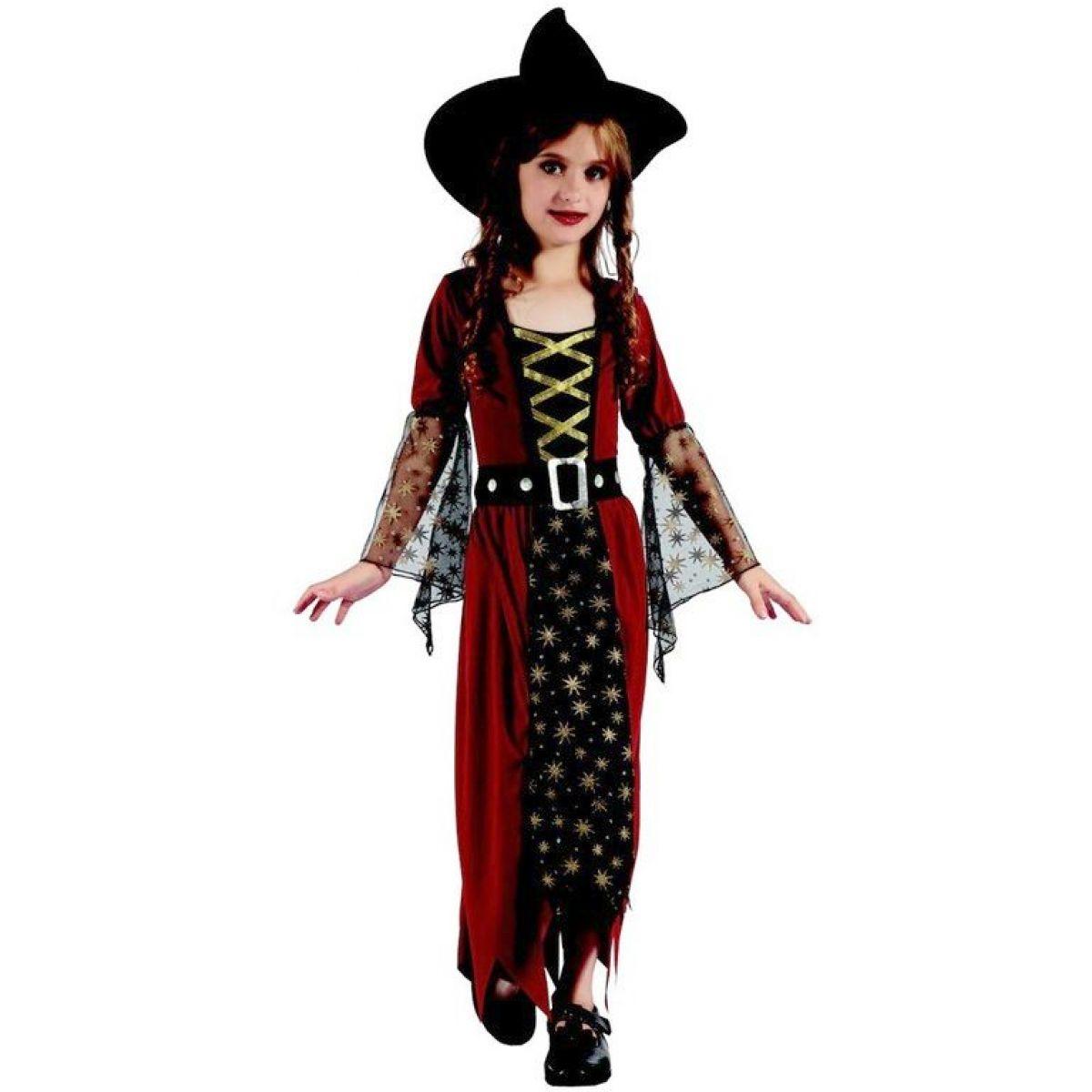 Made Dětský karnevalový kostým čarodějka M 120 - 130 cm