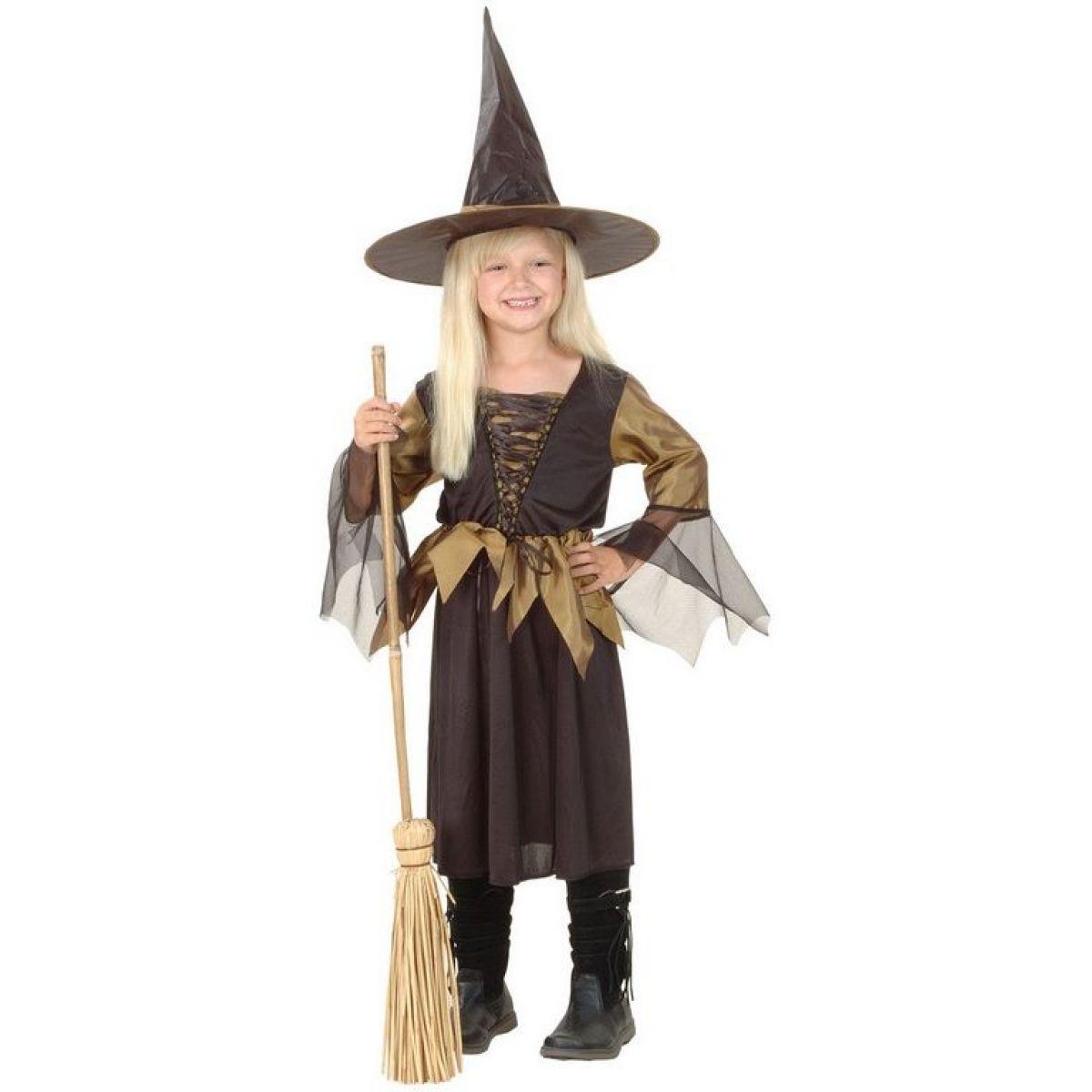 Made Dětský karnevalový kostým Čarodějnice L 130 - 140 cm MaDe