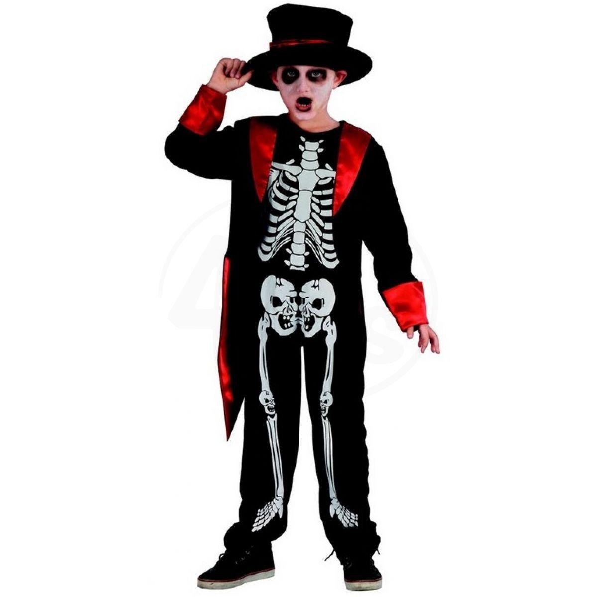 02539c4a4be8 Made Dětský karnevalový kostým Kostra chlapec 120 -130 cm
