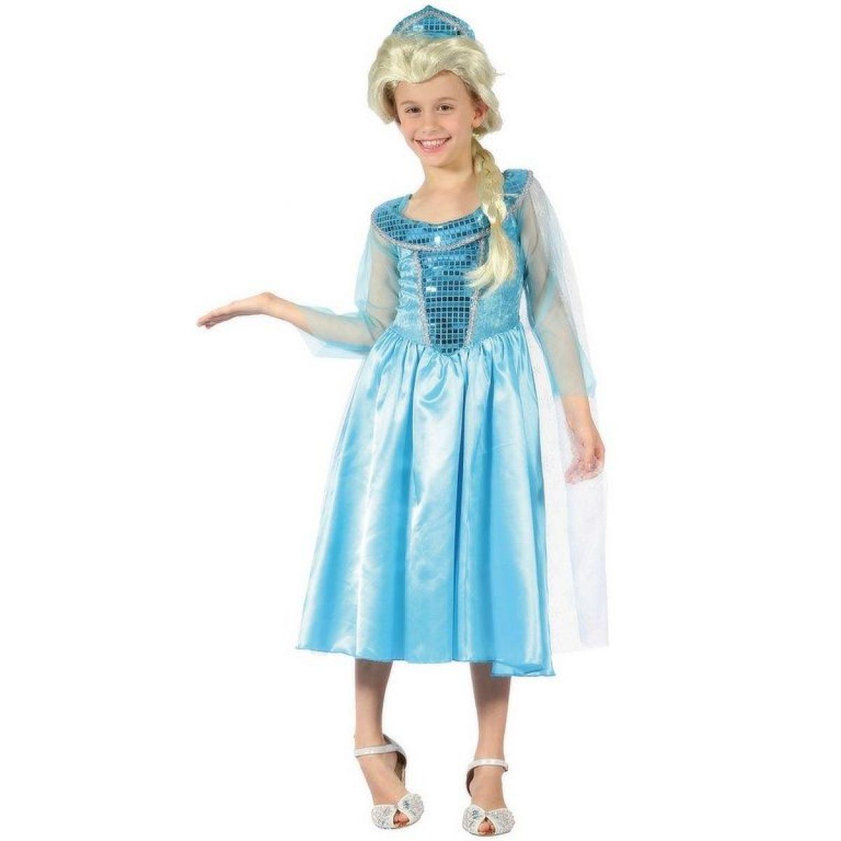 Made Dětský karnevalový kostým Ledová princezna 120 -130 cm
