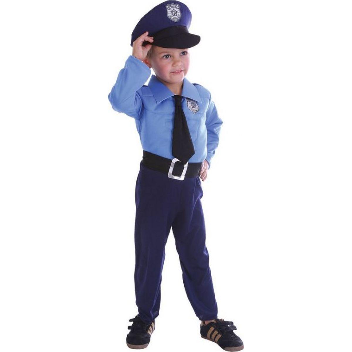 Made Dětský karnevalový kostým Policista 92-104 cm MaDe