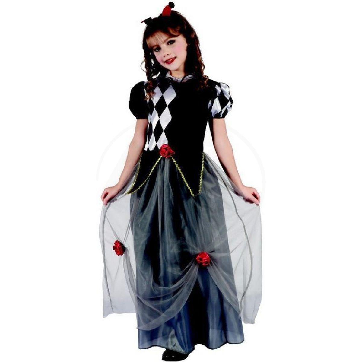 Dětský karnevalový kostým princezna šašek M 120 - 130 cm e71f98ab694