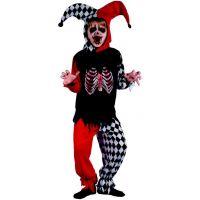 Made Dětský karnevalový kostým Šašek kostra 120-130 cm