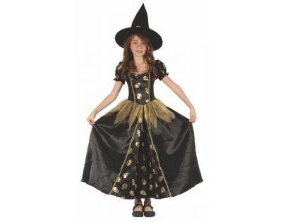 Made Dětský kostým Čarodějka lebka 120-130 cm
