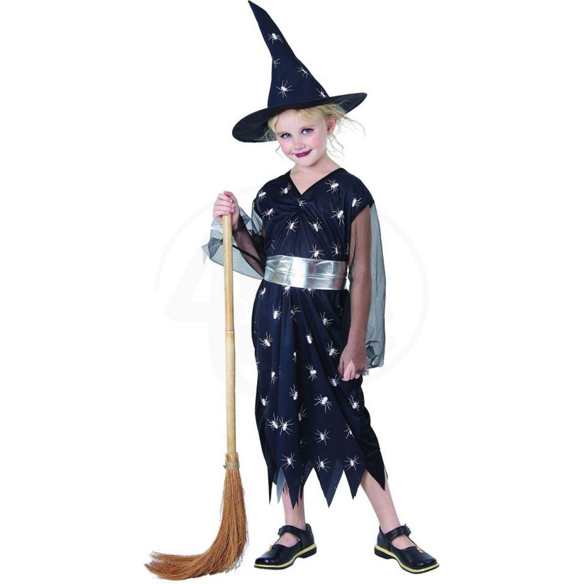Made Dětský kostým Čarodějka pavouk 120-130 cm MaDe Šaty na karneval ... 02b08d238ea