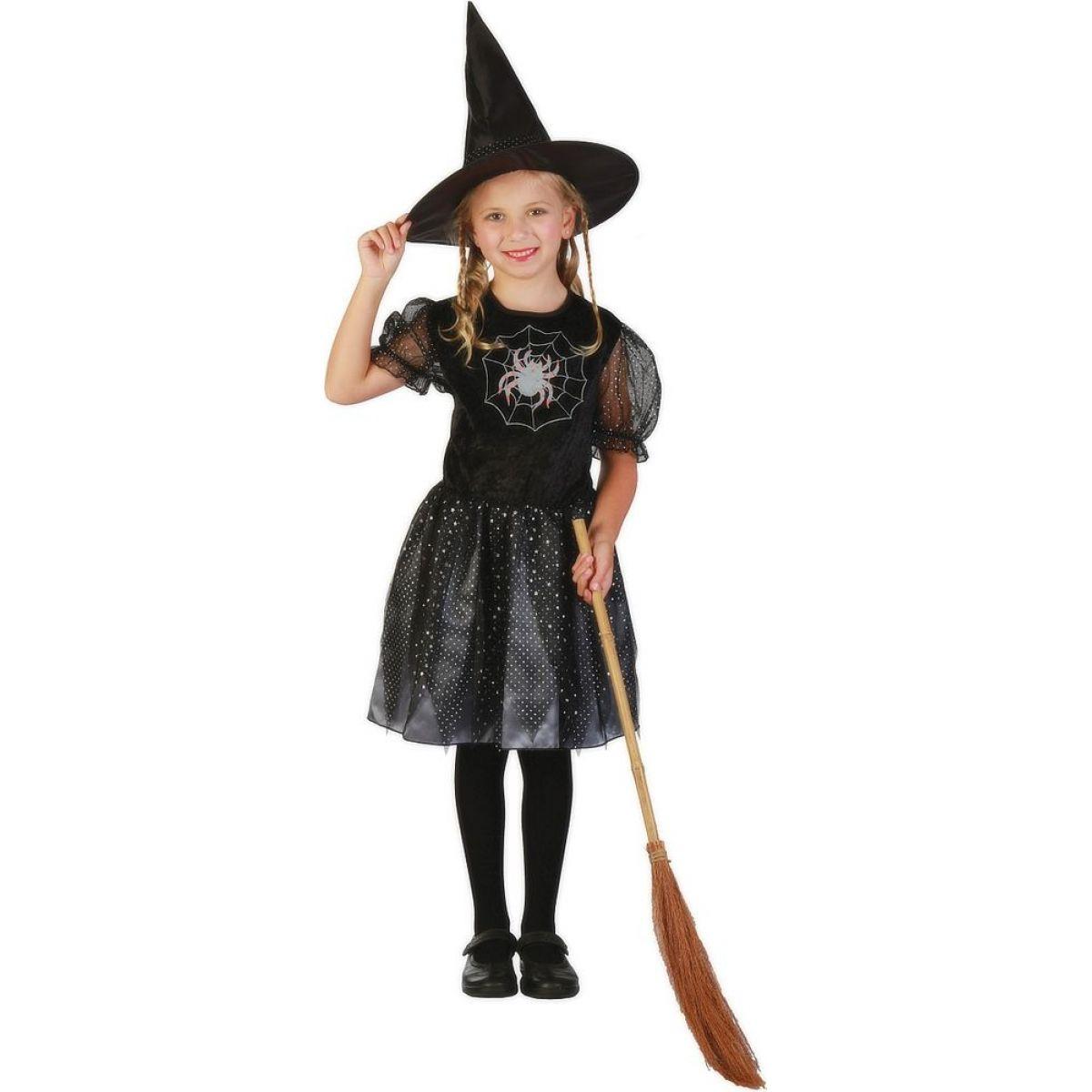Made Dětský kostým Čarodějnice 120-130 cm MaDe