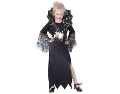 MaDe 75068 - Šaty na karneval - Černá vdova (120 - 130 cm)