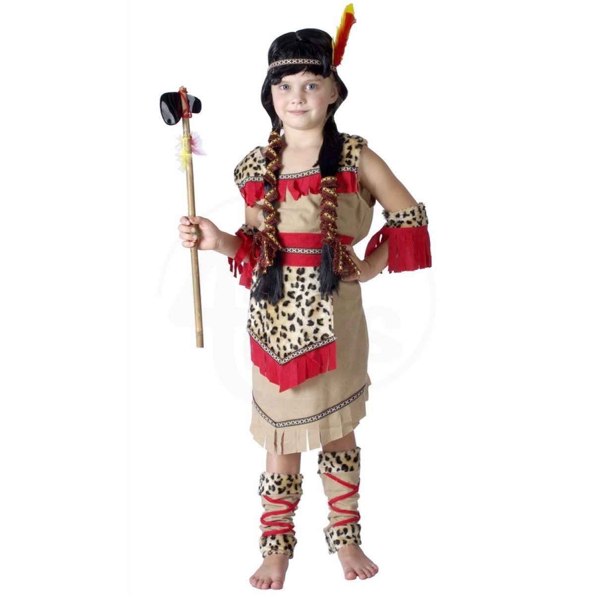 MaDe Dětský kostým indiánka velikost M b9e918e61f3