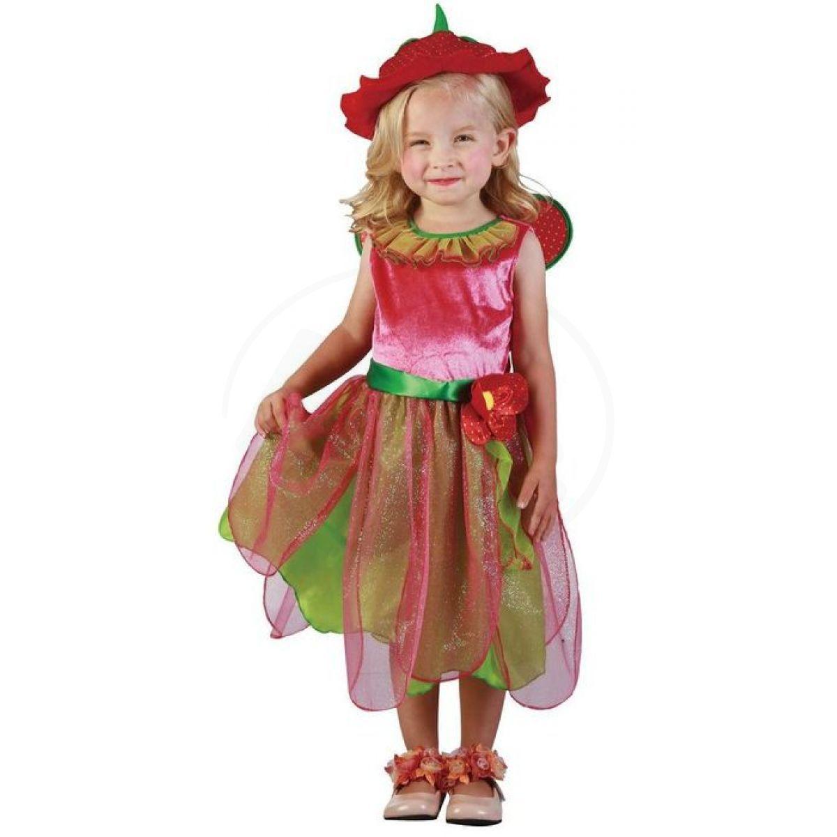 Made Dětský kostým Jahodová víla 92-104cm b77d7de705d