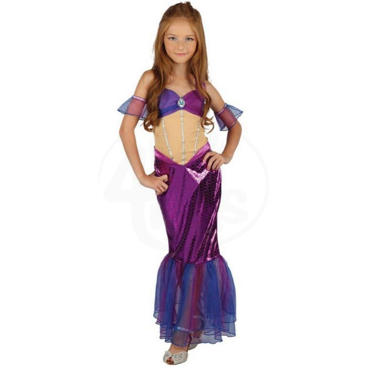 Made Dětský kostým Mořská panna fialová 120-130cm