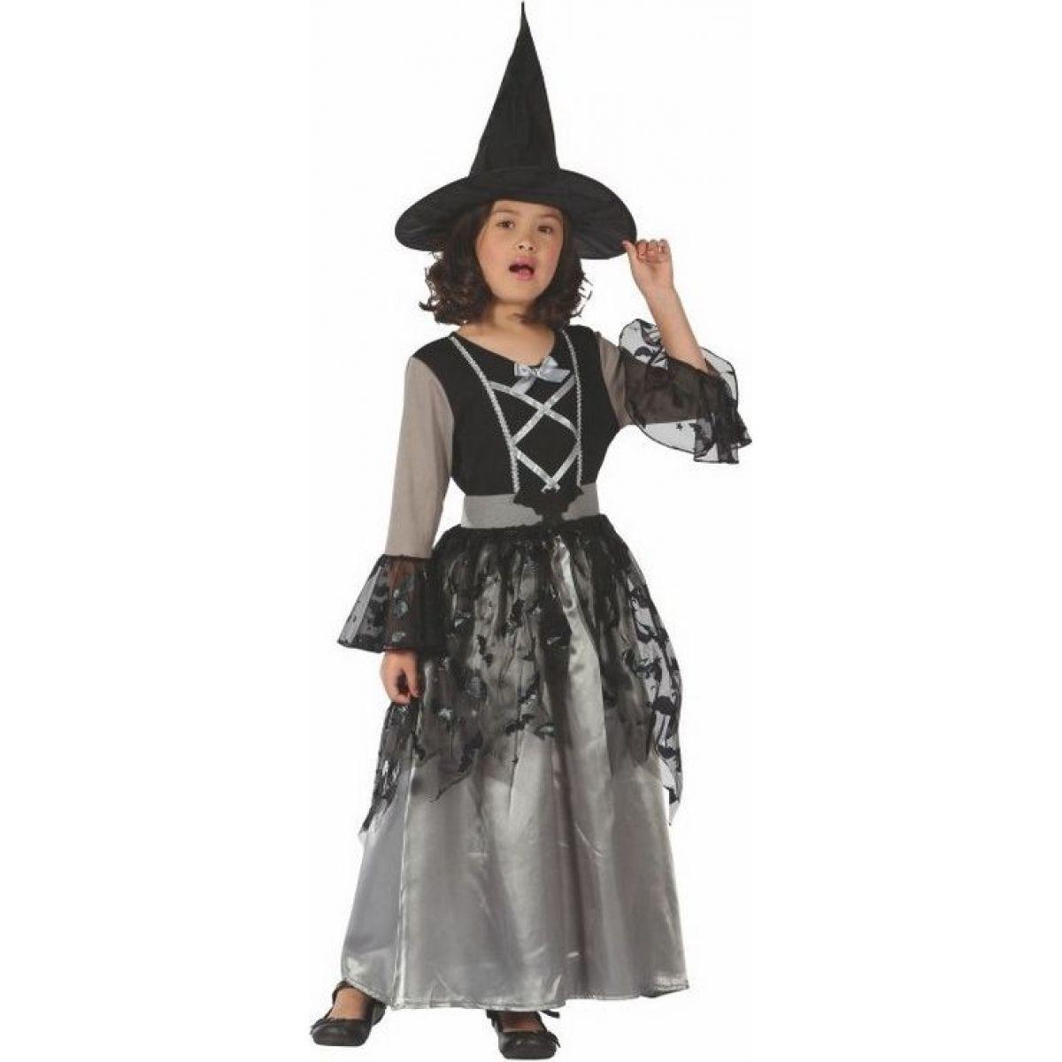 Made Dětský kostým na karneval Čarodějka 120-130 cm MaDe