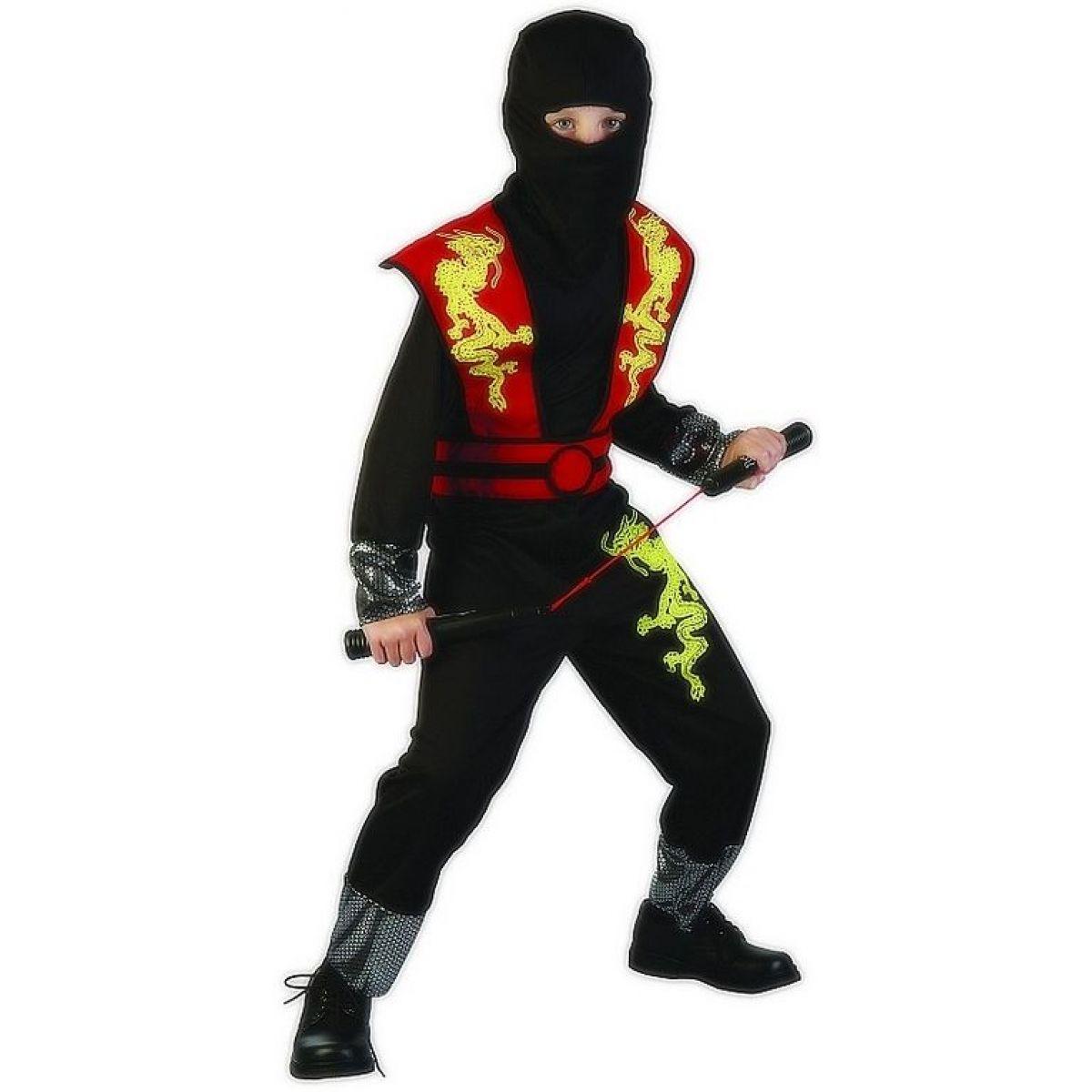 Made Dětský kostým Ninja červený 120-130 cm