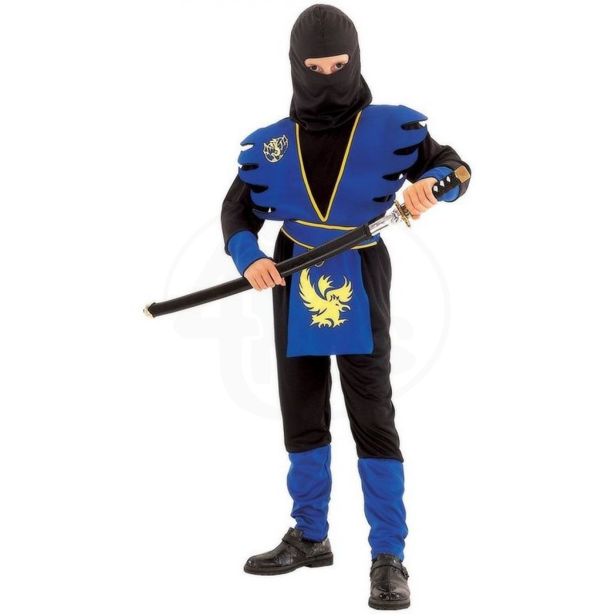 Made Dětský kostým Ninja modrý 120-130 cm