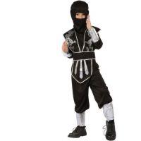 Made Dětský kostým Ninja v černém 130-140 cm