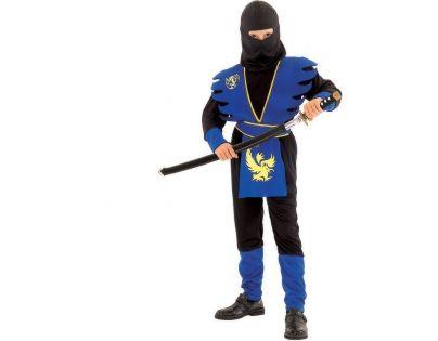 Made Dětský kostým Ninja v modrém 130-140 cm