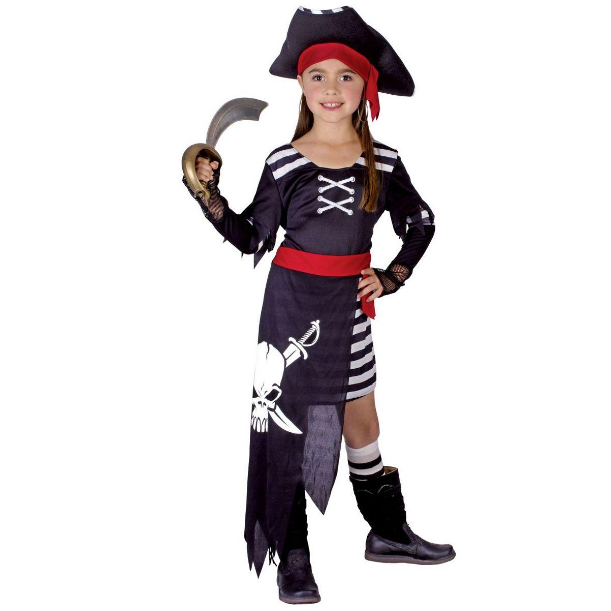 Made Dětský kostým Pirátka 110-120cm