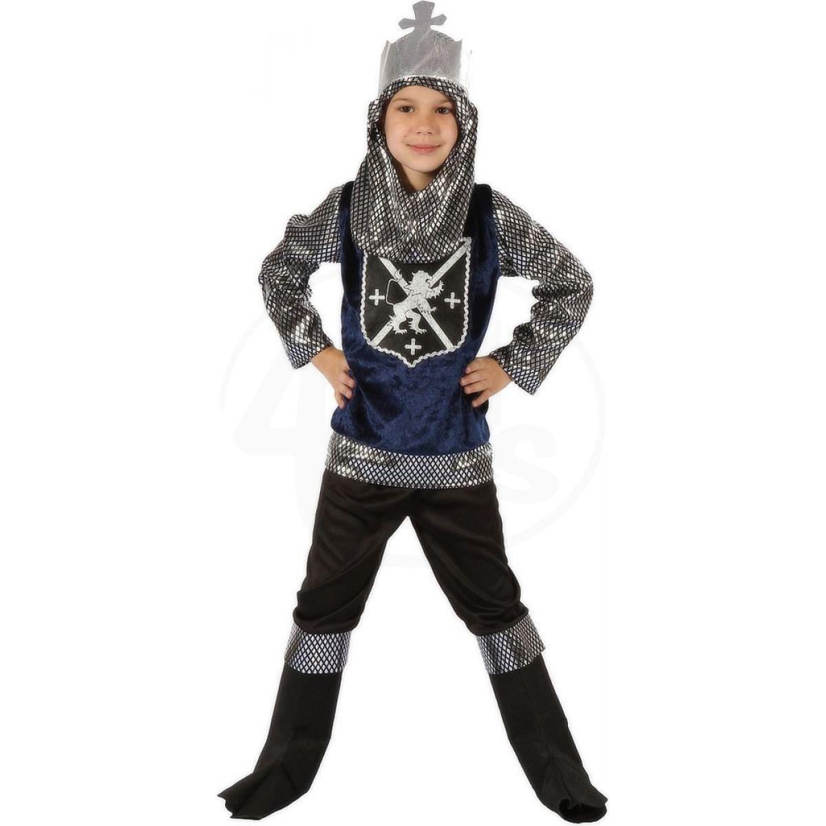 d9e9d1cee496 Made Dětský kostým Rytíř stříbrný 110-120cm